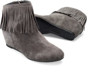 Steel Grey Suede Comfortiva Riverton