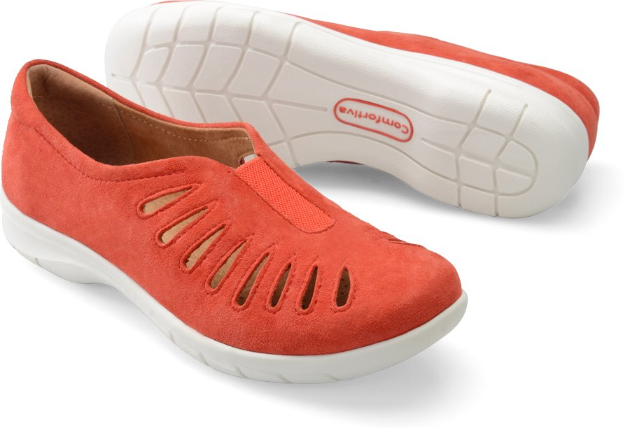 Comfortiva Tinsley : Coral Suede - Womens