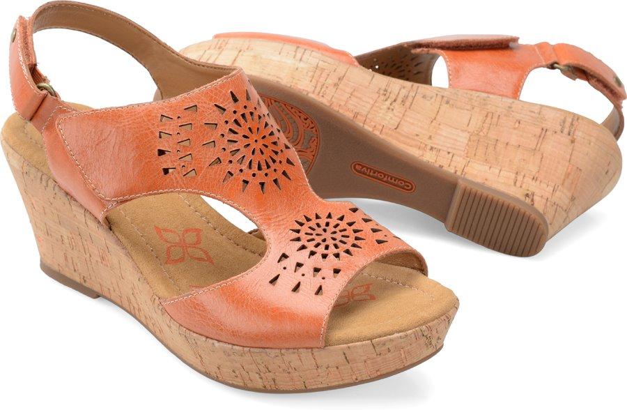 Comfortiva Rainer : Poppy Orange - Womens