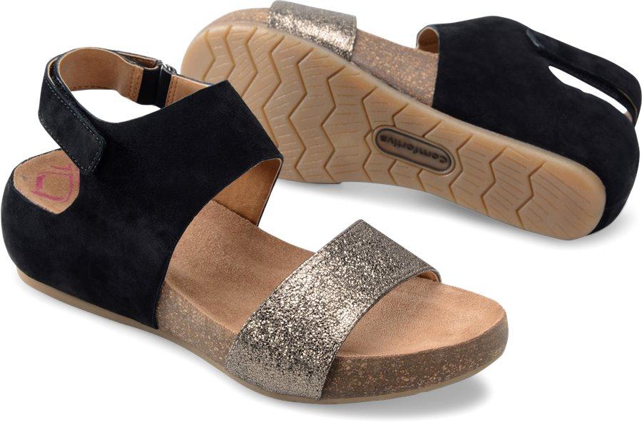Comfortiva Seeley : Black/Copper - Womens