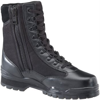 Black Corcoran 9 Inch Side Zipper Mach Boot