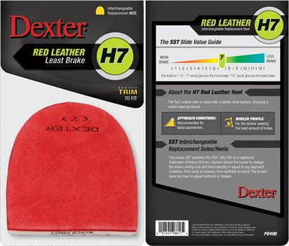 Red Leather Dexter Accessories h7 Replacement Heel