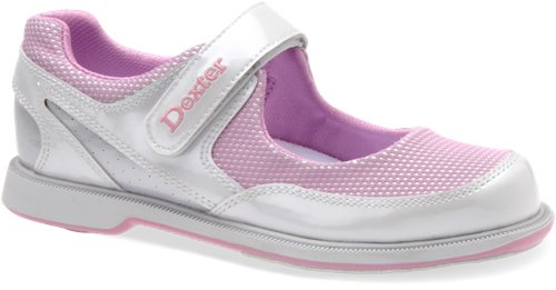 White/Pink/Silver Dexter Bowling Mary Jane