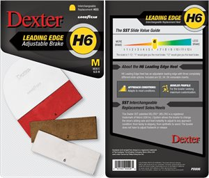 White/Red Dexter Accessories H6 LEADING EDGE HEEL - MEDIUM