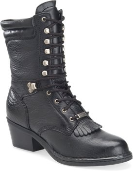 Black Heritage Double H Boot 8 Inch Opanka Packer