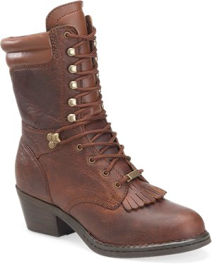 Brown Double H Boot 8 Inch Opanka Packer
