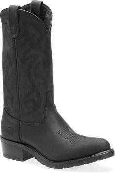 Black Oiltan Double H Boot 12 Inch AG7 Work Western
