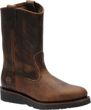 Aztec Crazyhorse Double H Boot 10 Inch Ranch Wellington
