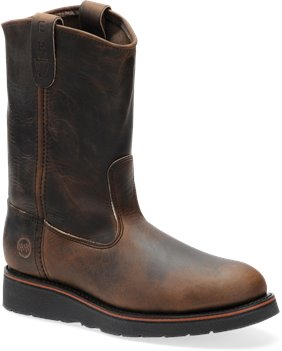 Aztec Crazyhorse Double H Boot 10 Inch ST AG7 Ranch Wellington