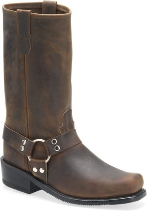 Tan Crazyhorse Double H Boot 12 Inch Harness