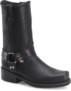 Black Double H Boot 10 Inch Domestic Harness