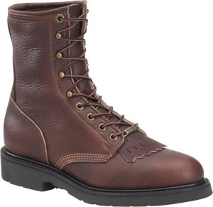 Walnut Double H Boot 8 Inch Work Lacer Steel Toe