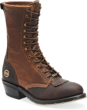 Brown Double H Boot 10 Inch Packer Steel Toe