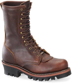 Amber Gold Double H Boot Domestic 9 Inch Amber Gold Logger