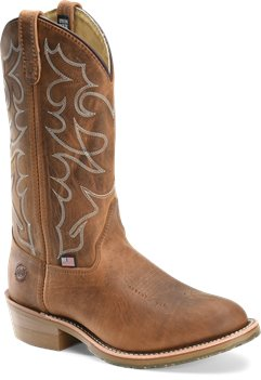 Brown Double H Boot 12 Inch Gel ICE Work Western
