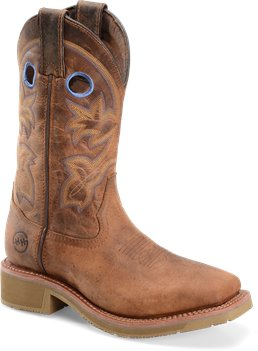 Rust Double H Boot 11 Inch Wide Square Toe Ice Roper