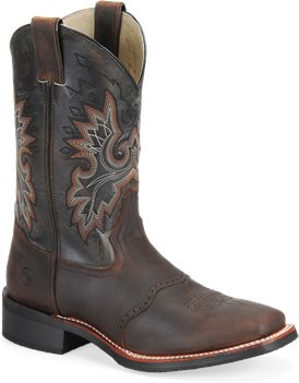 Tan Crazy Horse Double H Boot 11 Inch Square Toe Roper