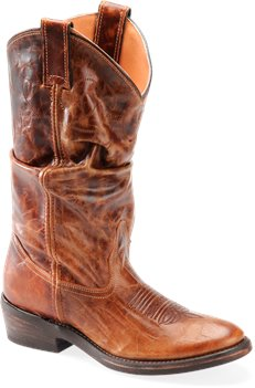 Medium Brown Double H Boot Casual Western Slouch