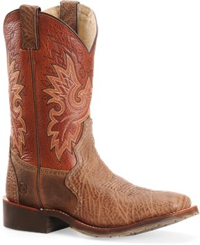 "Crazyhorse/Whiskey Double H Boot 11"" Chocolate Square Roper"