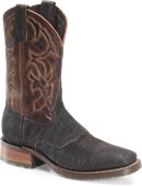 Double H Boot 11  Wide Square Toe Roper  in Antique Brown
