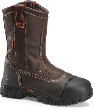 "Brown Double H Boot 11"" Composite Safety Wide U Toe"