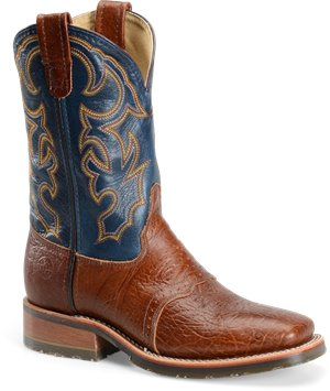 Brandy/Blue Double H Boot Wide Square Toe ICE Roper