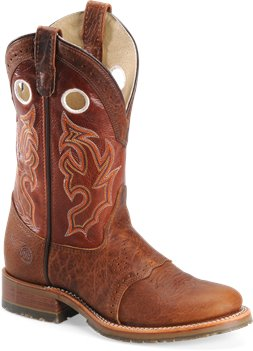 Cognac Double H Boot 11 Inch Bison Collared ICE Roper