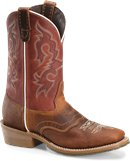 Double H Boot 11 Inch Domestic Wide Square Toe Work Western in Coppertone Burgundy