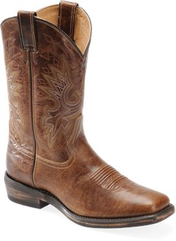Medium Brown Double H Boot Wide Square Toe Casual Western