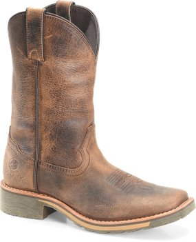 Tan/Crazy Horse Double H Boot Women's Slouch