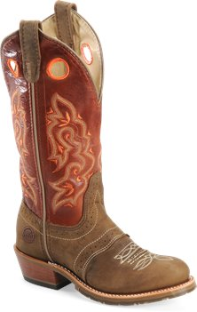 Brown Whistler Double H Boot 12 Inch Domestic U Toe Buckaroo