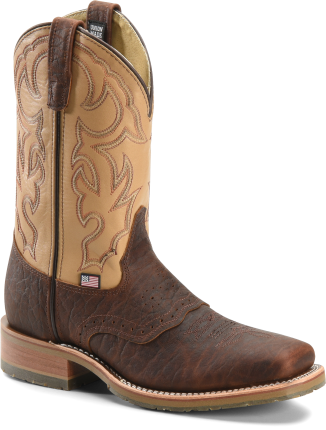 "Double-H Boots | Mens Men's 11"" Domestic Bison Wide Square Steel ..."