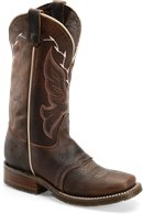 "Brown Double H Boot 12"" Domestic Wide Square Toe ICE"