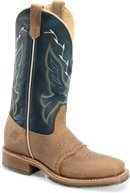 Chip Tan/Midnight Blue Double H Boot 12 Inch Domestic Wide Square Toe Ice Roper