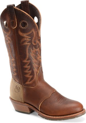 "Tobacco Double H Boot 12"" Domestic U Toe ICE"