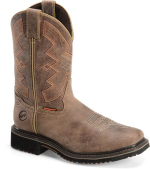"Natural Tan Double H Boot 13"" Wide Square Toe Work Western"