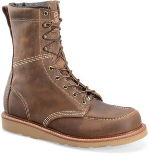 Old Town Tan Double H Boot 8 Inch ST MocToe