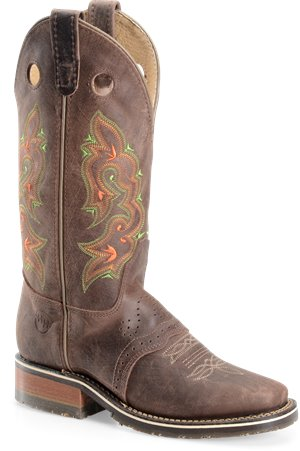 Chocolate Double H Boot 12 Inch  Wide Square Toe Roper