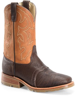 Tobacco Double H Boot 11 Inch Wide Square Toe Ice Roper
