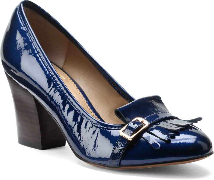 Isola Tara : Ink Blue Patent - Womens