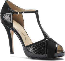 Isola Catalina : Black Suede Black Snake - Womens