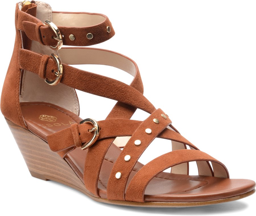 Isola Petra : Tobacco Suede - Womens