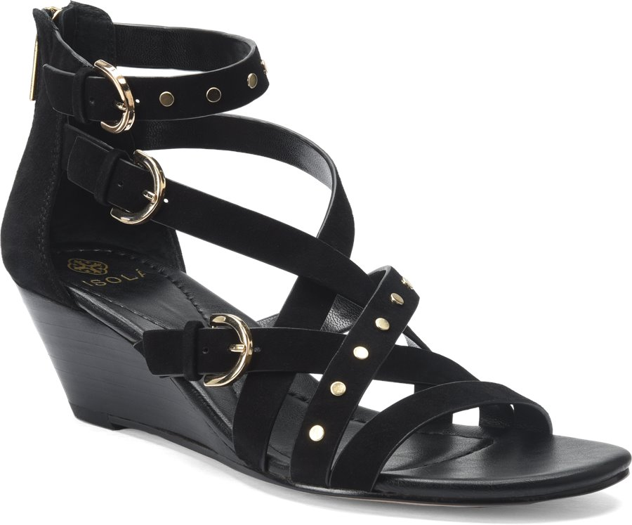 Isola Petra : Black Suede - Womens