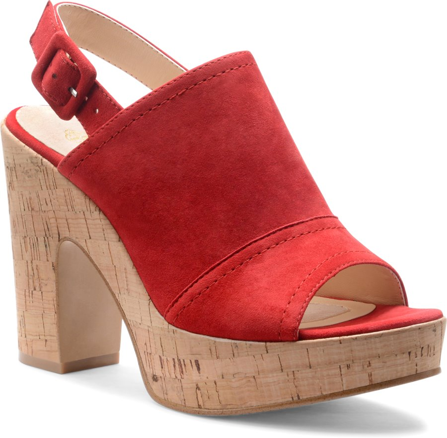 Isola Gabriela : Fire Red Suede - Womens