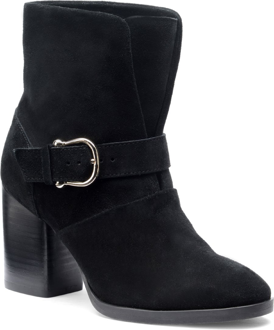 Isola Lavoy : Black Suede - Womens