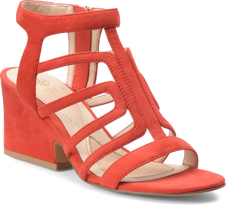 Isola Lina : Red Suede - Womens