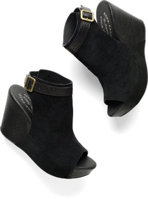 Black Suede Combo Korkease Berit
