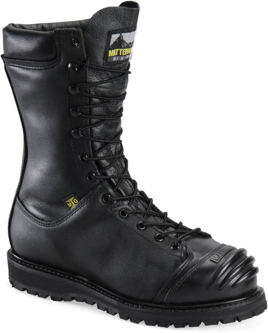 Matterhorn 10 Inch Waterproof Mining Boot : Black - Womens