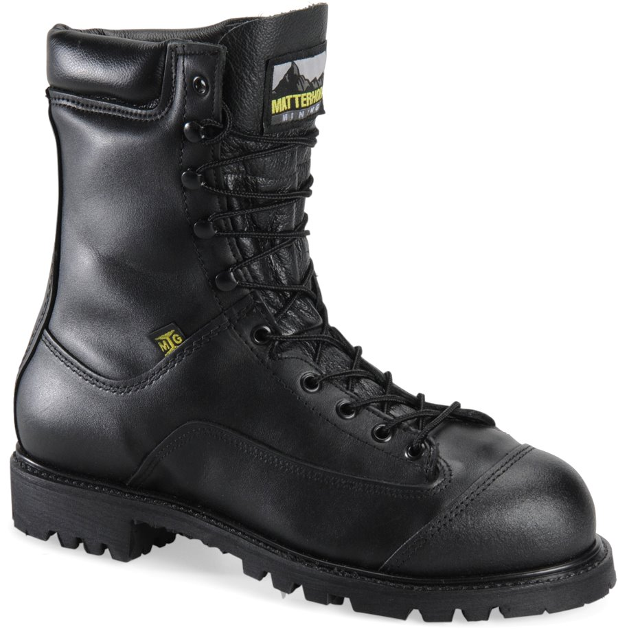 Matterhorn 8 Inch Waterproof Prep Plant Boot : Black - Mens
