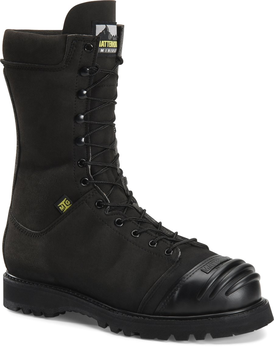Matterhorn 10 inch Nytek Waterproof Mining Boot : Black - Mens